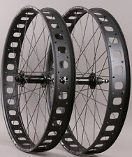 "Sun Mulefut 80 SL 26"" Fat Bike Wheelset 15mm Front QR Rear 32 Hole 6 Bolt Disc"