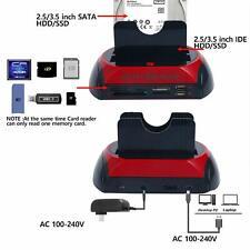 Dual SATA IDE HDD Docking Station for 2.5'' 3.5'' Hard Drive Card Reader