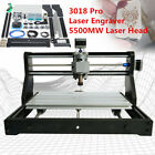 CNC 3018 pro Router Kit Laser ngraving, carving Milling 3 Axis+5500mW Laser Head