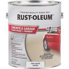 2-Rust-Oleum 1 Gal Concrete & Garage Floor Tint Base Satin Paint & Primer 225381