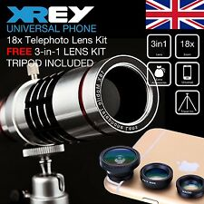 18x Telescope Telephoto Zoom Camera Lens for Mobile Phone CellPhone Universal