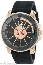 Juicy Couture 1900786 Pedigree Black Dial Rubber Strap Women's Watch
