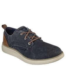 NEW Mens $70 SKECHERS Classic Fit Status 2.0 Pexton Canvas Casual Shoes Navy 12