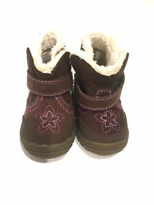 Surprize By Stride Rite Baby Girl Booties Brown Mini Boots Size 3