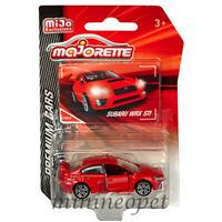 MAJORETTE 3052MJ2 PREMIUM CARS SUBARU WRX STi  1/57 - 1/64 MODEL CAR RED