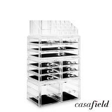 Large Cosmetic Makeup Organizer Jewelry Drawer Storage Box Acrylic Display Case
