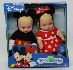 DISNEY'S MICKEY & MINNIE MOUSE ~ DRESS-UP CUDDLER WATER BABIES ~ Playmates 11562