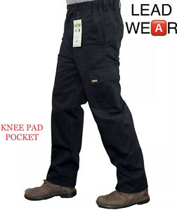 Mens Combat Cargo Work Trousers Size 30 to 42 With KNEE PAD POCKETS Black Navy