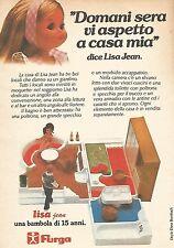 X0920 Lisa Jean - Bambola Furga - Pubblicità del 1976 - Vintage advertising