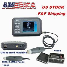 Veterinary Ultrasound Scanner Machine Handscan Amp Mechanical Rectal Probe Dog Pig