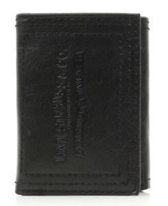 Levi's Men's Premium Leather Credit Card Id Wallet Trifold Black 31LP1122