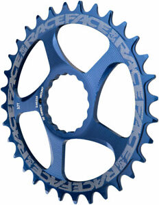 RaceFace Narrow Wide Chainring: Direct Mount CINCH 32t Blue