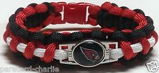 Arizona Cardinals Red, Black, and White Handmade Paracord Bracelet or Lanyard