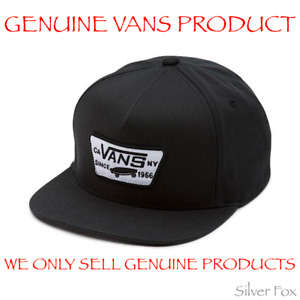 VANS FULL PATCH TRUE BLACK SNAPBACK CAP HAT BRAND NEW WITH TAGS