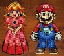 Mario and Princess Peach  kandi rave perler edm edc PLUR sprite hama nintendo