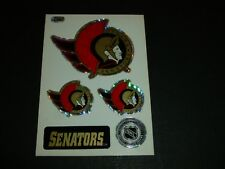 OTTAWA SENATORS SENS TEAM HOCKEY NHL LOGO CARD STICKERS 1990s MACHINE VENDING