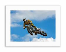 Motocross Dirt Bike JUMP Foto Poster Foto Tela Sport art prints