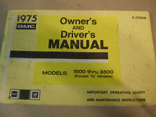 1975 GMC  Owners Manual 1500-3500 Series