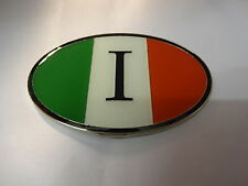 Enamel Chrome ITALIAN Flag ITALIA  I  Car Badge Fiat Alfa