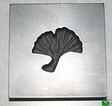 Ginko Leaf Push Mold 2x2 Graphite Glass Lampwork