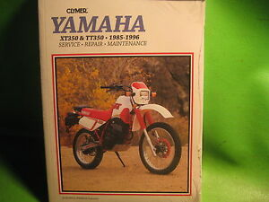 YAMAHA XT350 '85-96 TT350 '86-87 CLYMER SERVICE MANUAL BOOK OEM #M480-2