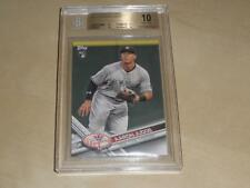 2017 Topps Yankees Team Set Card #NYY-16 Aaron Judge RC BGS 10 PRISTINE