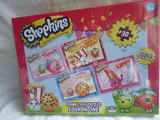 SHOPKINS Four In One Puzzles - Frame Tray Puzzles 30 pcs BRAND NEW IN BOX