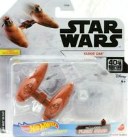 Hot Wheels Star Wars Starships CLOUD CAR w/ Flight Stand Disney Mattel 40th