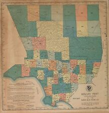 1950 Los Angeles County plat map California old Genealogy Atlas Land P162