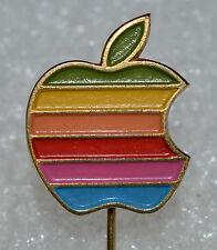 APPLE Computer vintage 80s Rainbow lapel stick pin badge Yugoslavia made Rare