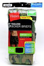 5 Hanes Camo Colors XL 40-42 Inch Boxer Briefs ComfortSoft Waistband 100-105 CM