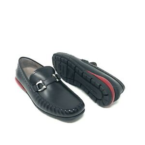 """Salvatore Ferragamo """"Tasby"""" Black Leather Buckle Drivers Loafers Dress Shoes"""