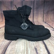 Timberland Roll Top Boots Yth 6.5 Women Size 8 Triple Black Boots NEW