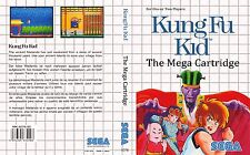 Kung Fu Kid Sega Master System Replacement Box Art Case Insert Cover Scan