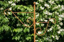 Stabiler Doppel - Laternenstab in Rost H: 180cm Laternenhaken zum Stecken