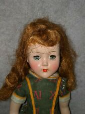 """14"""" tall vintage arranbee R&B nanette walker doll to repair awesome face color"""