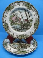 """Johnson Bros. Friendly Village Willow By The Brook 7 1/2"""" Plates Set Of 2 Plates"""