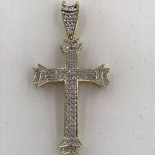 Joe Rodeo 10k Gold & Diamond 3D Cross Pendant