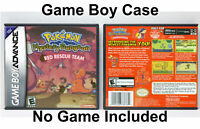 Pokemon Mystery Dungeon Red Rescue Team Game Boy Advance Custom Case *NO GAME*