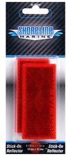 Shoreline Marine Stick-On Trailer Reflector, Reflective Red