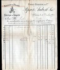 """ORLEANS (45) USINE de LINGE / MAISON DE BLANCS """"PIPROT & AUBERT"""" en 1887"""