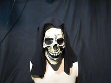 GRIM REAPER Latex Crâne Masque Avec Capuche Zagone Studios. UK Stock, Clip Vidéo.