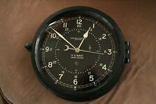 "Us Navy Chelsea Clock Pre-Wwii 8.5"" dial w/Certificate of Origin and Chelsea Key"