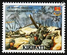 WWII 1943 BATTLE OF TARAWA - US Marines Land at Red Beach Stamp