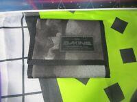 dakine grey black smolder identity card wallet purse ripper coins  unisex