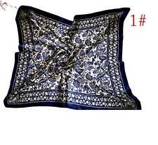 "New Womens Big Square Silk-like Satin Large Scarf Wrap 35""*35"" Printing shawl 1#"