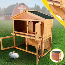 "Wooden 40"" Poultry Cage Rabbit Hutch Cage Chicken Coop Hen House Pet Animal Run"