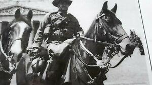 WW1 light horse machine gun mounted unit rec-acting Mel bound