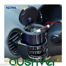 New SEIWA Car Auto Cigarette Ashtray Holder Canister LED Light W636+Bracket W273