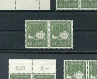 Bund Nr. 280 waagerechtes Paar postfrisch BRD 1957 Freiherr von Eichendorf